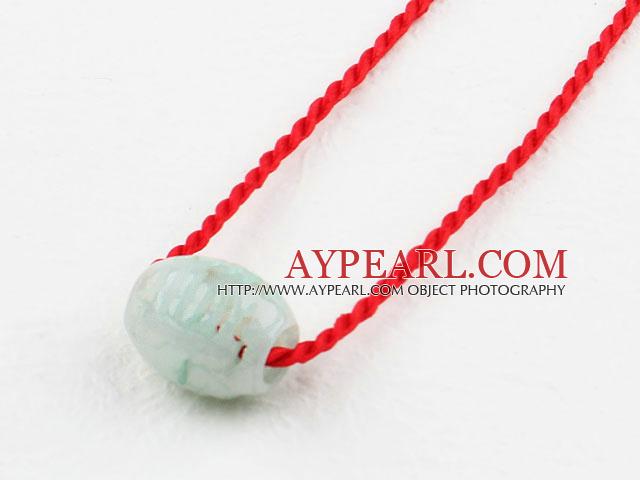 Απλά Jade στυλ Τυχερά κολιέ κρεμαστό κόσμημα Πόρπη με κόκκινο κορδόνι a8ed1b60bd9