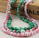 Wholesale Natural Candy Color Beckite Graduated Beaded Necklace (The price is for one piece)