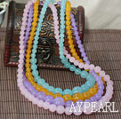Natural Candy Color Beckite Tower Shape pärlstav halsband