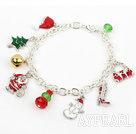Wholesale Fashion Style Silver Plated Chain Xmas/ Christmas Charm Bracelet