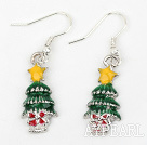 Fashion Style Weihnachten / Christmas Tree Form Charm Ohrringe