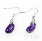 Fashion Style Eggplant Shape Charm Earrings