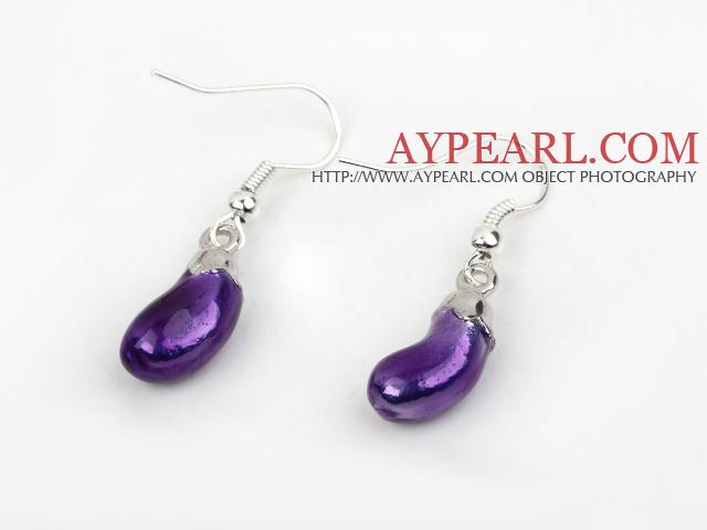 Fashion Style Eggplant Shape Charm Earrings