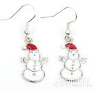 Wholesale Fashion Style Snowman Shape Xmas/ Christmas Earrings