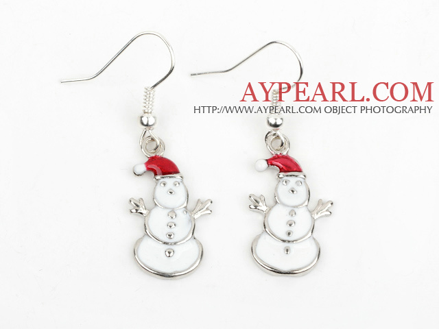 Fashion Style Snowman Shape Xmas/ Christmas Earrings