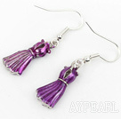 Wholesale Fashion Style Purple Formal Dress Shape Charm Earrings
