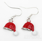Fashion Style Santa Claus' Hat Shape Xmas/ Christmas Earrings