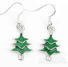 Fashion Style Xmas/ Christmas Tree Shape Charm Earrings