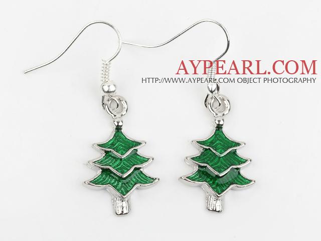 Fashion Style Xmas/ Christmas Tree Shape Charm Earrings