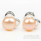 Wholesale Fashion Style 6-7mm Natural Pink Freshwater Pearl Studs Earrings with Heart Shape Accessories