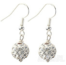 Wholesale Classic and Simple Design 10mm White Round Rhinestone Ball Earrings