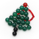 Wholesale 2013 Christmas Design Green Agate and Carnelian and Black Agate Christmas Tree Ring
