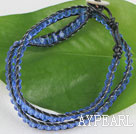 15.0 inches light blue 4mm manmade crystal wrap bracelet