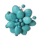 Elegant Style Green Color Assorted Multi Color Turquoise Flower Brooch