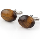 Fashion Half Round Tiger Eye Stone Cuff Link Decorations For Clothes