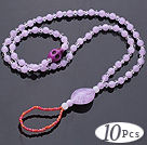 Beautiful 10 Pcs Violet Round Acrylic And Purple Skull Turquoise And White Crystal Anklet