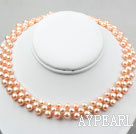 Natural Pink Freshwater Mabe Pearl Bridal Necklace