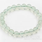 Wholesale 10mm A Grade Prehnite Beaded Elastic Bangle Bracelet