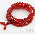 Carnelian Prayer Bracelet (  Rosary Bracelet Total 108 Beads )