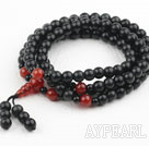 Wholesale Obsidian and Carnelian Prayer Bracelet (  Rosary Bracelet Total 108 Beads )