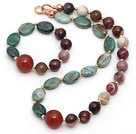 Wholesale Assorted Opal and Dragon Blood Stone and Carnelian Set ( Necklace and Matched Bracelet )
