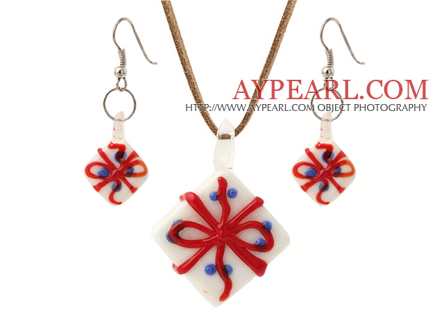 Wonderful Christmas/Xmas Ceramic Gift Box Sets (Necklace With Matched Earrings)