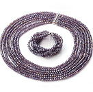 Beautiful Multi Strands Manmade Purple Crystal Necklace Bracelet Sets With Magnetic Clasp