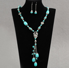 Wholesale Assorted Turquoise Set ( Y Shape Turquoise and Matched Earrings )