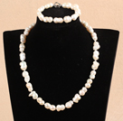 Wholesale Gray Series Gray Jade Tube Shape Woven Set ( Necklace and Matched Bracelet)