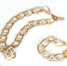 Gold Plated Aluminium Chain Set ( Necklace and Matched Bracelet )