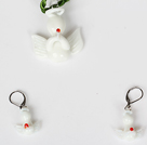 Christmas Angel Jewelry Set Necklace with Matched Earrings