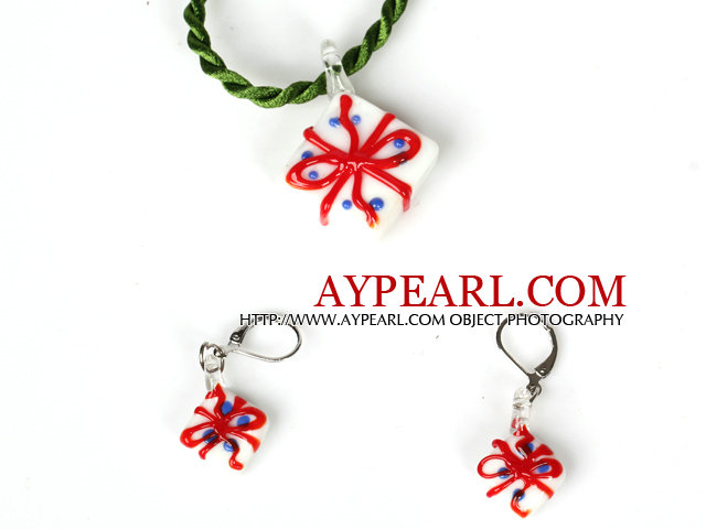 Christmas Gift Jewelry Set Necklace with Matched Earrings