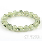 10mm Round Natural Prehnite Stretch Beaded Bangle Bracelet