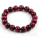 10mm Round A Grade Rosary Red Tiger Eye Beaded Stretch Bangle Bracelet