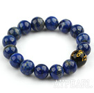 Lapis rondes 12mm perles Bracelet extensible avec des personnages de Black Magic Charms Perles en agate