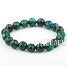Wholesale 10mm Round Faceted Phoenix Stone Beaded Elastic Bangle Bracelet
