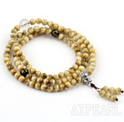 Golden Tiger Eye Rosary/ Prayer Bracelet with Clear Crystal and Black Agate and Sterling Silver Beads ( Can also be Necklace )