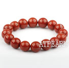 12mm Natural Red Jasper Elastic Bangle Bracelet