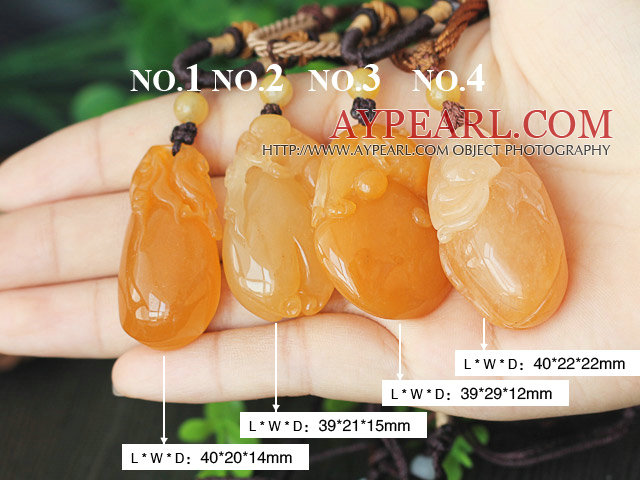 A Grade Huanglong Jade Pendant ( Customer can choose one from 4 pendants )