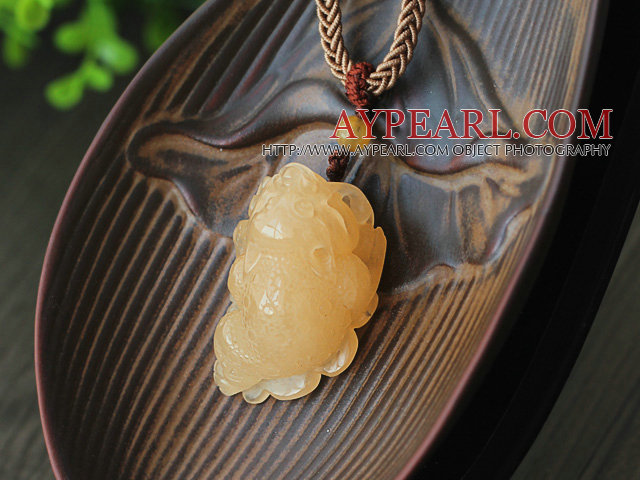 Chin Style A Grade Huanglong Pendant Necklace with Thread