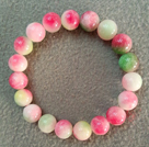 10mm Multi Color Bracelet Calcédoine Bracelet élastique