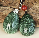 Classic Seraphinite Pendant Necklace With 925 Sterling Silver Chain Accessories (You Can Select 1 From 2 Pendants)