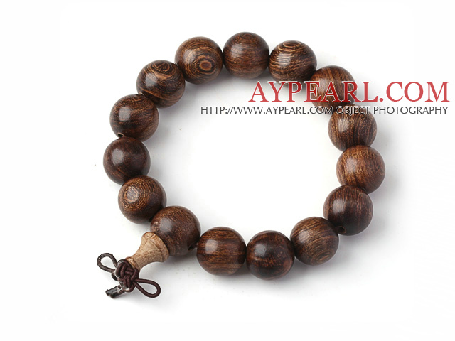 Fashion Lovers Golden Sandalwood Rosary Beads Bracelet