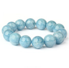 Fashion Natural Round Aquamarine Beaded Stretch Bracelet (Different Sizes Can Be Available)