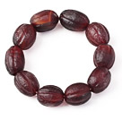 Fashion Natural Pumpkin Shape Original Red Agate Rosary Bracelet