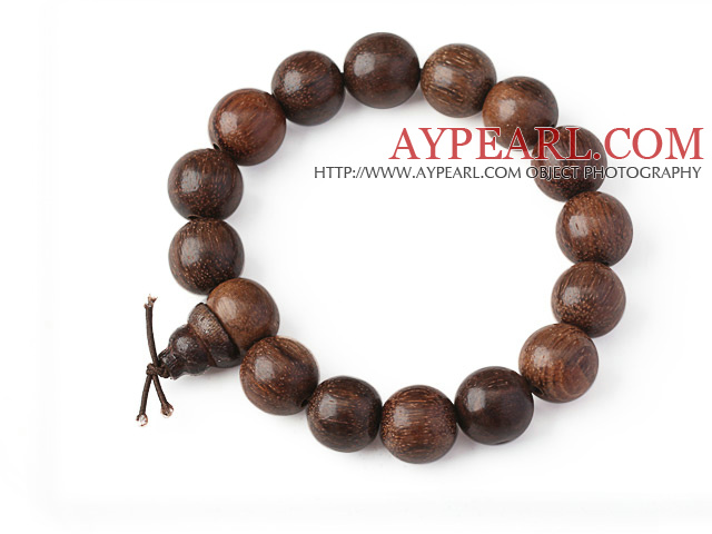 Beautiful 14mm Amulet Natural Real Silkwood Rosary Beads Bracelet