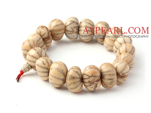 Fashion Natural Silver Threaded Grape-Fruit Rosary Beads Bracelet