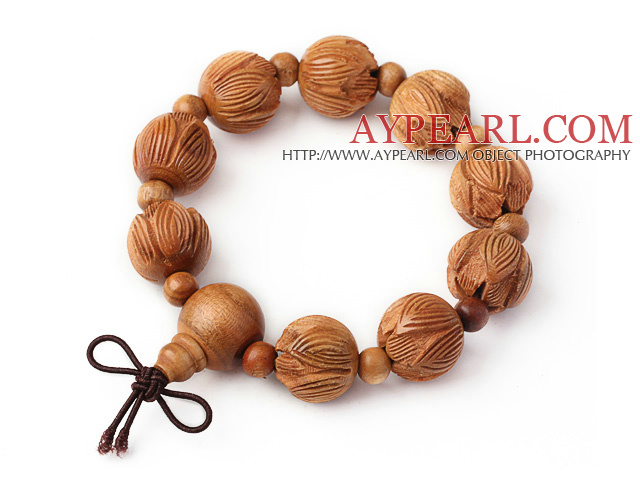 Fashion Amulet Natural Pecan Rosary Beads Bracelet (You Can Select 1 from 3 Bracelets)