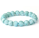 Fashion Natural Round Larimar Beaded Stretch Bracelet (Different Sizes Can Be Available)