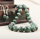 Wholesale Natural Faceted Zoisite Stone Beaded Set ( Necklace and Matched Earrings )